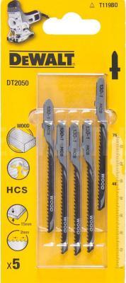Пилки для лобзика DeWALT DT2050-QZ по дереву HCS T 119 BO, 5шт.