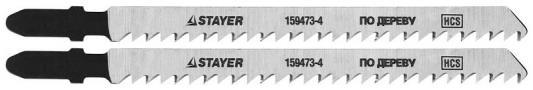 Пилки для лобзика STAYER STANDARd159473-4 HCS по дер. фанере ДВП ДСП T301Cd100/4мм 2шт. бурмистрова т сост геометрия 7 9 классы сборник рабочих программ учебное пособие для общеобразовательных организаций