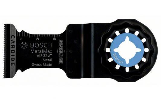 Полотно пильное для МФИ BOSCH AIZ32AT (2.608.662.018) погружное, BiM, 40x32мм, металл погружное пильное полотно bosch bim aiz 32 apb wood and metal 2 608 661 644