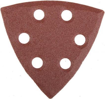 Лист шлифовальный STAYER MASTER 35460-100 треугольный унив.велкро 6отв.P100 93х93х93мм 5шт.