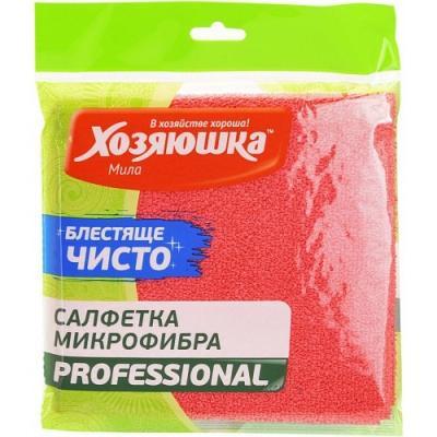 ХОЗЯЮШКА Мила Салфетка PROFESSIONAL микрофибра 30*30 см 1 шт