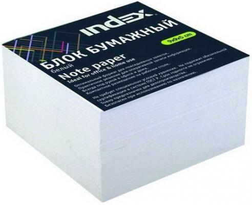Блок бумажный, белый, разм. 9х9х5 см, офсет 80 гр
