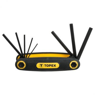 Набор ключей TOPEX 35D958 ключи шестигранные 1.5-6мм набор 8шт.