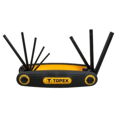 Набор ключей TOPEX 35D959 ключи шестигранные Torx T9-T40 набор 8шт. набор ключей 8шт wiha pocketstar torxsb363 p8 23049
