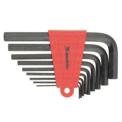 Набор ключей MATRIX 11222 имбусовых hex 2.0–12мм crv 9шт оксидированные набор инструментов matrix 11222 набор ключей имбусовых 2 012мм 9шт
