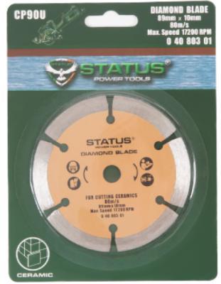 Алмазный диск STATUS 04080301 для CP90U алмазный 89x10х1.8мм
