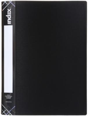Папка с пружинным скоросшивателем SATIN, карман, форзац, ф.A4, 0,6мм, черная