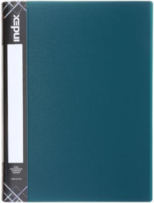 Папка с пружинным скоросшивателем SATIN, карман, форзац, ф.A4, 0,6мм, темно-зеленая