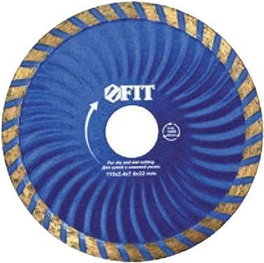 Круг алмазный FIT 37483 отрезной турбо волна (для особо прочных материалов) 125мм круг алмазный тсс 450 premium