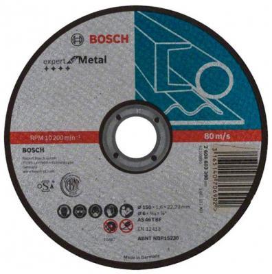 Круг отрезной BOSCH Expert for Metal 150x1,6x22 (2.608.603.398) по металлу отрезной круг bosch expert for inox 125х1мм 2608600549