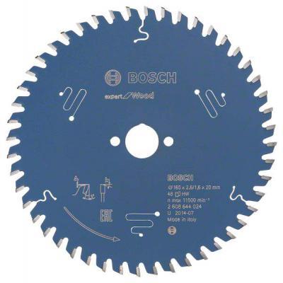 Пильный диск BOSCH EXP WO 165x20-48T (2.608.644.024) Ф165х20мм 48 зуб. диск пильный твердосплавный bosch exp wo 165x20 48t 2 608 644 024
