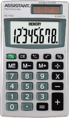 Калькулятор карманный 8-разр., двойное питание, ПВХ обложка, металл. панель, разм.102х57х9,5 мм