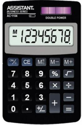 Калькулятор карманный 8-разр., двойное питание, ПВХ обложка, черный пластик, разм.102х61х8 мм