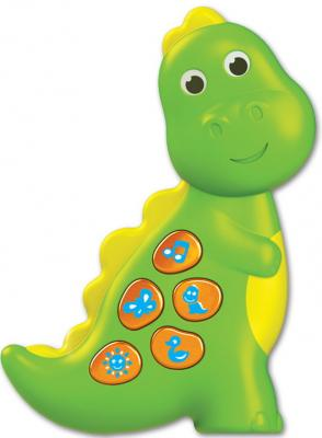 Интерактивная игрушка АЗБУКВАРИК Динозаврик. Чудо-огоньки от 1 года зелёный интерактивная игрушка азбукварик колобок от 1 года