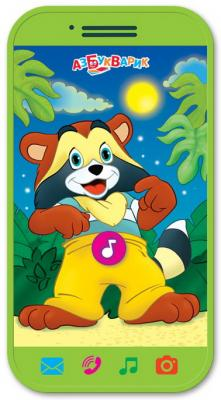Интерактивная игрушка АЗБУКВАРИК Крошка Енот от 1 года азбукварик книга азбукварик приключение смурфиков крошка смурф