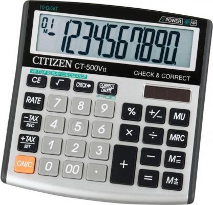 Калькулятор настольный 12 разр,2-е пит,Check&Correct 99 шагов TAX MU, серый/черн, разм. 134х135х27мм