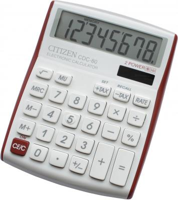 Калькулятор настольный 8 разр. 2-е питание TAX MU белый/красный, разм. 135х108х24 мм калькулятор настольный 8 разр 2 е питание tax mu белый красный разм 135х108х24 мм