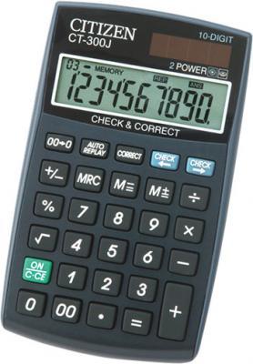 Калькулятор настольный, 10 разр. 2-е питание Check&Correct 120 шагов, черный, разм. 120х72х9 мм