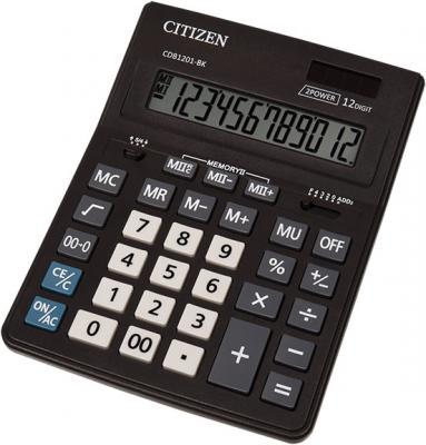 Калькулятор настольн BUSINESSLINE,12 разр., дв. питание, 2 памяти, черный корпус, разм.200*157*35 мм