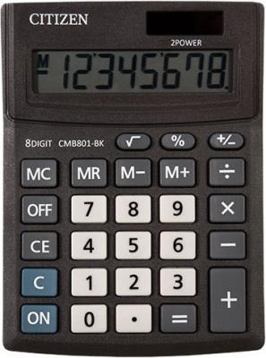 Калькулятор настольн малый BUSINESSLINE, 8 разр., дв. питание, черный корпус, разм.136*100*32 мм