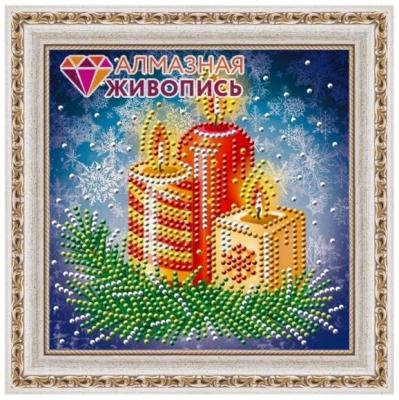 Алмазная живопись Новогодние свечи 15*15