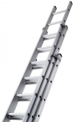 Лестница BIBER 98210 универсальная 3-х секционная 10 ступеней лестница krause 3 х секционная профессиональная 3х14