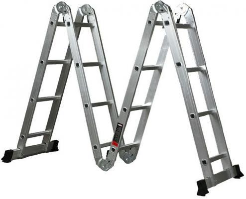 Лестница BIBER 98302 трансформер 4-х секционная 4-х ступенчатая