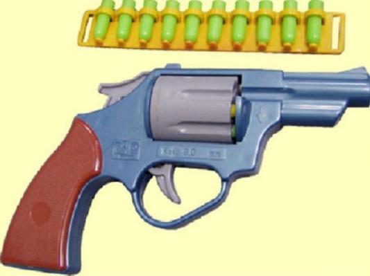 Револьвер Форма Револьвер серый