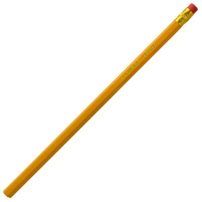 Карандаш чернографитный с ластиком, желтый корпус карандаш фонарик с ластиком