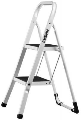 Лестница СИБИН 38807-02 стремянка стальная c широкимиступенями 2ступени лестница сибин 38807 04
