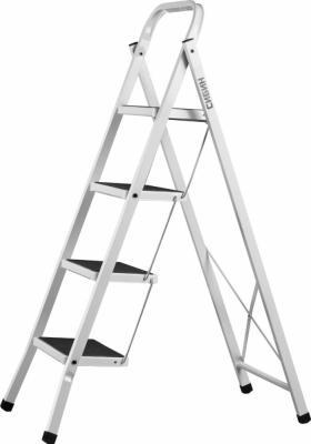 Лестница СИБИН 38807-04 стремянка стальная c широкимиступенями 4ступени лестница сибин 38807 04