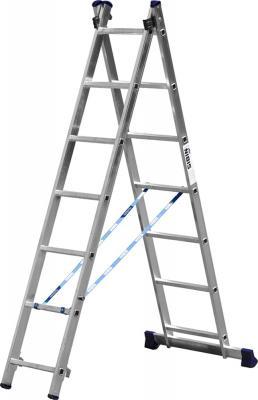 Лестница СИБИН 38823-07 универсальная двухсекционная 7ступеней лестница сибин 38807 04