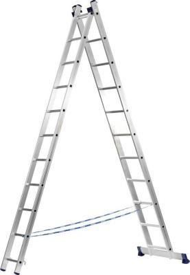 Лестница СИБИН 38823-09 универсальная двухсекционная 9ступеней двухсекционная лестница inforce 2х11 л 02 11