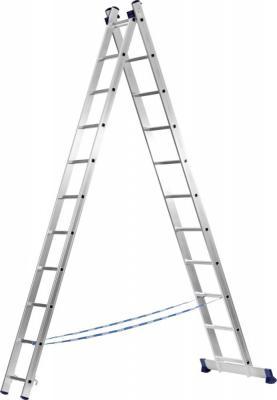 Лестница СИБИН 38823-11 универсальная двухсекционная 11ступеней набор торцевых головок ombra 911224 24 предмета 55312