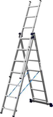 Лестница СИБИН 38833-07 универсальная трехсекционная со стабилизатором 7ступеней лестница трехсекционная dogrular 411312 3x12