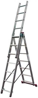 цена на Лестница KRAUSE CORDA KS-010391 3х9 универсальная рабочая высота 6.2м