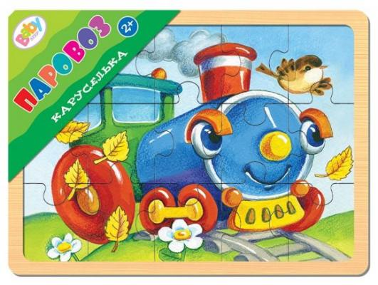 Пазл Степ Каруселька Паровоз 15 элементов 89037 step puzzle пазл для малышей каруселька паровоз