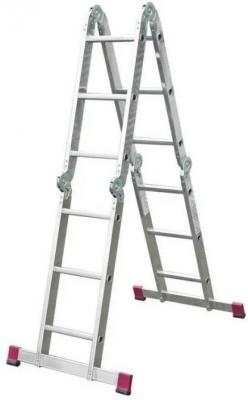 Лестница НОВАЯ ВЫСОТА 604404 4х4 четырехсекционная 2.2м лестница новая высота 3 х секционная профессиональная 3х15
