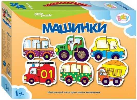 Пазл напольный Степ Машинки 70110 эва пазл мягкий напольный 37 30 см 67957