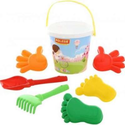 Набор для песка Полесье Набор для песка №604 5 предметов игрушки для песка полесье 455 с тачкой полесье