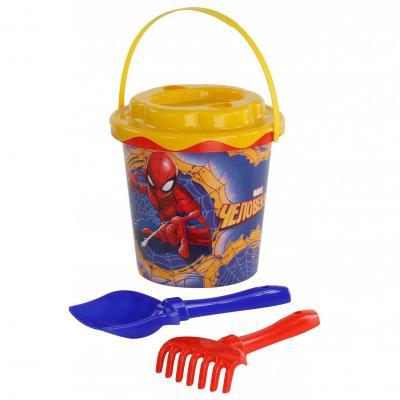 Купить Набор для песка Полесье Marvel Человек-Паук №11 4 предмета, Ведерки, лопатки и формочки для детей