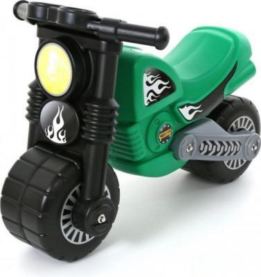 Каталка- Полесье Моторбайк зеленый от 2 до пластик 40480