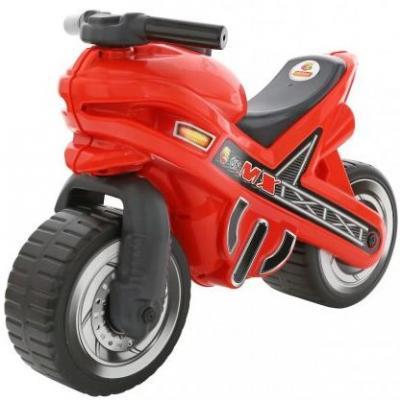 Каталка-мотоцикл Полесье МХ красный от 3 лет пластик 46512 полесье каталка мотоцикл фантом