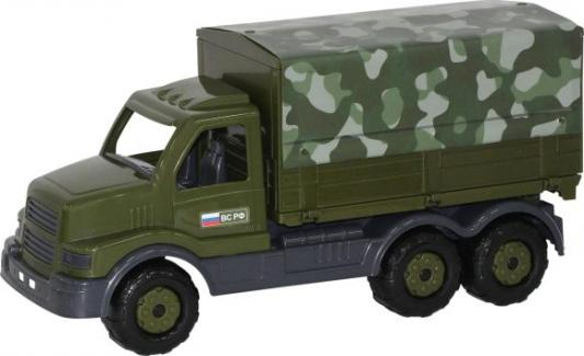 Купить Автомобиль бортовой Полесье Сталкер бортовой тентовый военный хаки 48646, ПОЛЕСЬЕ, Игрушечные машинки