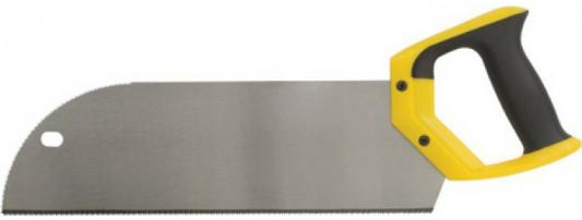 Ножовка FIT 41284  обушковая с запилом каленая (черно-желтая ручка) 350мм