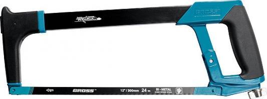 Ножовка GROSS 77600 PIRANHA  300 мм по металлу обрезиненная рукоятка и захват