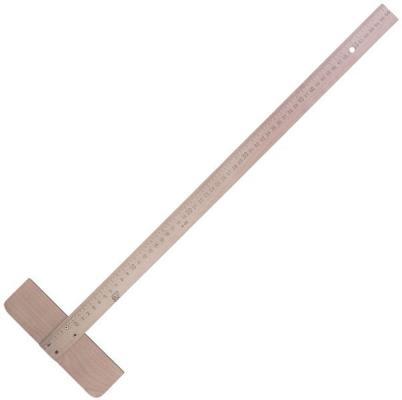 Рейсшина деревянная, 56 см, со штрихкодом линейка деревянная 17 см со штрихкодом