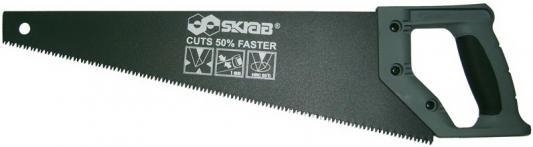 Ножовка SKRAB 20543 по дереву 500мм 3D-заточка 8TPI средний зуб обрезин. пластиковая ручка ножовка по дереву skrab с меняющимся углом