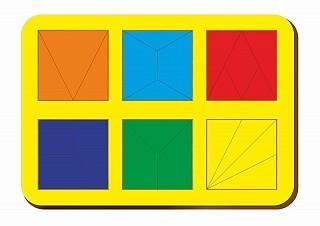 Купить Рамка вкладыш Woodland Сложи квадрат. 6 квадрата. Уровень 2 от 3 лет, Головоломки для детей