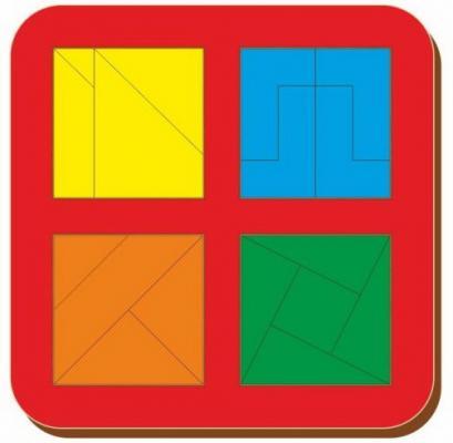 Купить Рамка вкладыш Woodland Сложи квадрат. 4 квадрата. Уровень 3 от 3 лет, Головоломки для детей